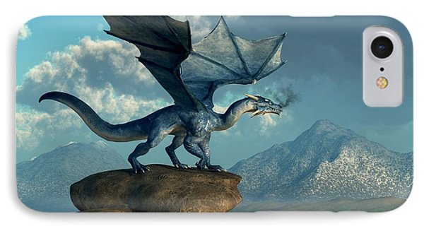Blue Dragon IPhone Case by Daniel Eskridge