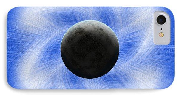 Blue Eclipse IPhone Case by Antony McAulay