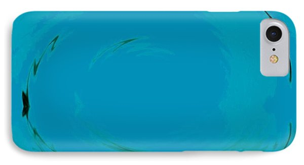 IPhone Case featuring the digital art Blue Oval by Phoenix De Vries