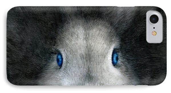 Blue Eyes IPhone Case by Penny Collins