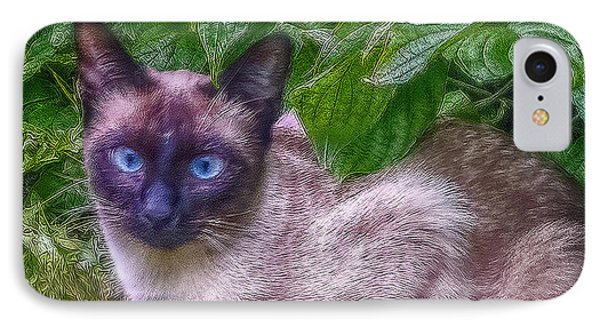 IPhone Case featuring the photograph Blue Eyes - Signed by Hanny Heim