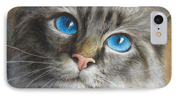 Blue Eyes Phone Case by Tobiasz Stefaniak