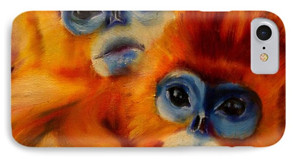 Blue Faced Monkey IPhone Case