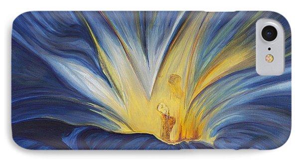 Blue Flower Center IPhone Case by Patty Vicknair