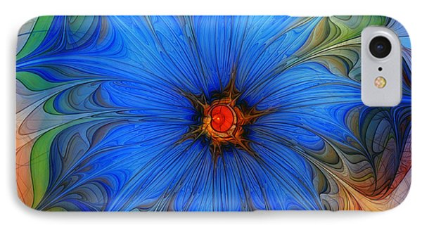 Blue Flower Dressed For Summer IPhone Case