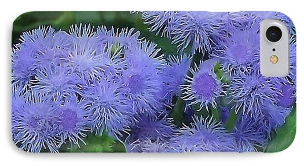 blue Flower IPhone Case by John Wartman
