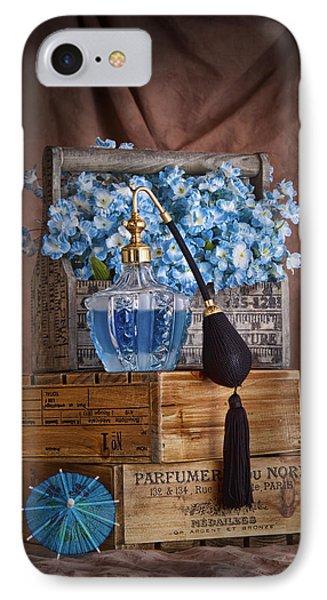 Blue Flower Still Life IPhone Case by Tom Mc Nemar