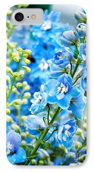 Blue Flowers IPhone Case by Antony McAulay