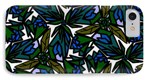 IPhone Case featuring the digital art Blue Flowers by Elizabeth McTaggart