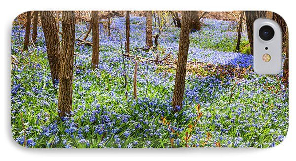Blue Flowers In Spring Forest Phone Case by Elena Elisseeva