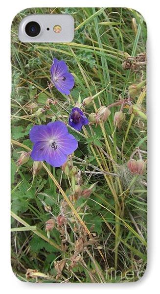 Blue Flowers Phone Case by John Williams
