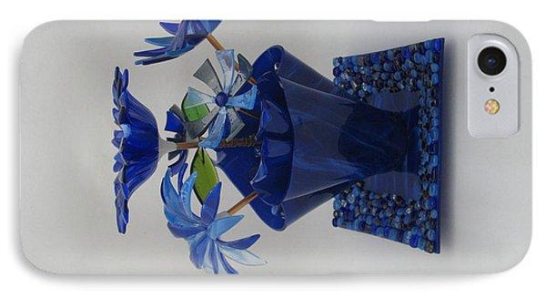 Blue Flowers Phone Case by Steven Schramek