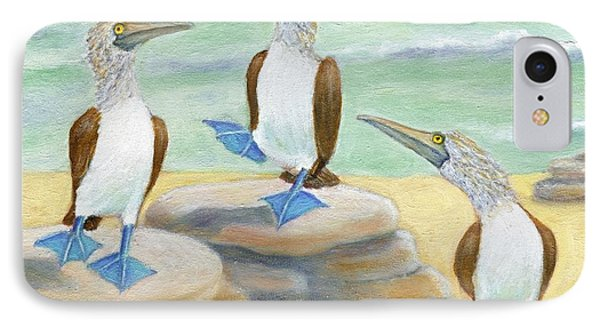 Blue-footed Boobies IPhone Case by Jeanne Kay Juhos