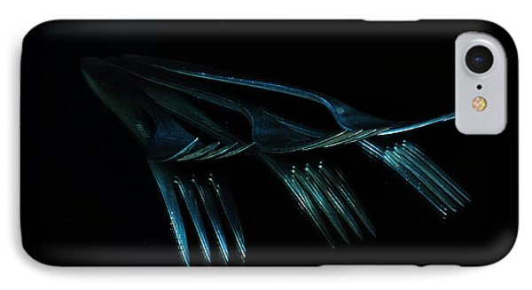 IPhone Case featuring the photograph Blue Forks by Randi Grace Nilsberg