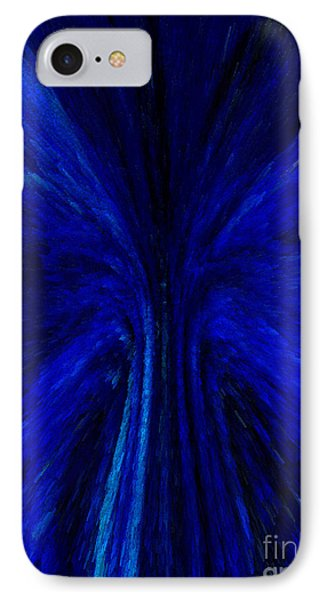 Blue Fuzz Phone Case by Patricia Kay