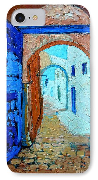 IPhone Case featuring the painting Blue Gate by Ana Maria Edulescu