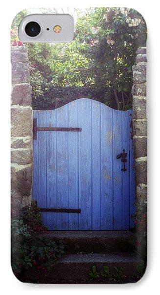 Blue Gate IPhone Case by Joana Kruse