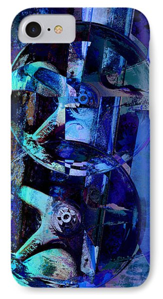 Blue Gears Collage Phone Case by Ann Powell