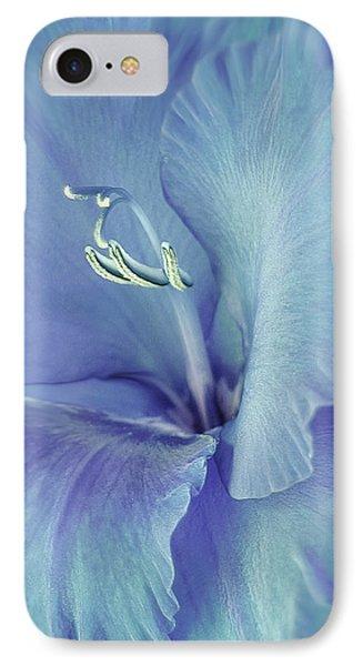 Blue Gladiolus Flower Phone Case by Jennie Marie Schell