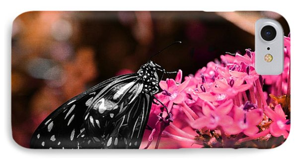 Blue Glassy Tiger Butterfly IPhone Case by Marianna Mills