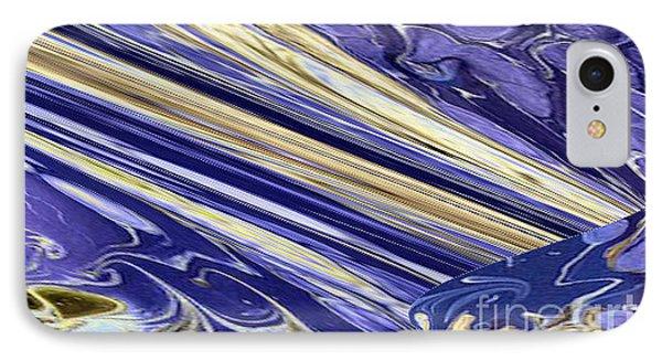 Blue Gold Phone Case by Gabriele Mueller