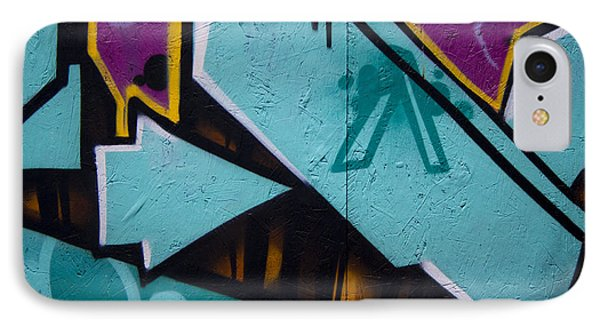 Blue Graffiti Arrow Phone Case by Carol Leigh