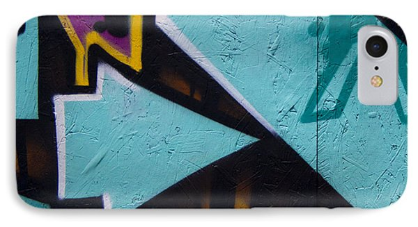 Blue Graffiti Arrow Square IPhone Case