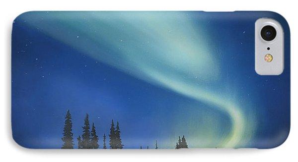 Blue Green Aurora Borealis Phone Case by Cecilia Brendel
