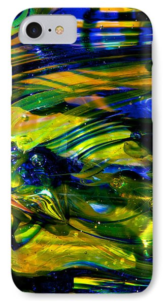 Blue Green Glass Macro Phone Case by David Patterson