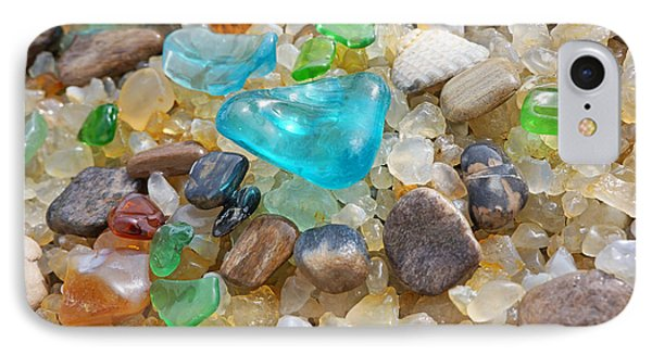 Blue Green Seaglass Coastal Beach Baslee Troutman IPhone Case by Baslee Troutman