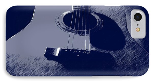 IPhone Case featuring the photograph Blue Guitar by Photographic Arts And Design Studio