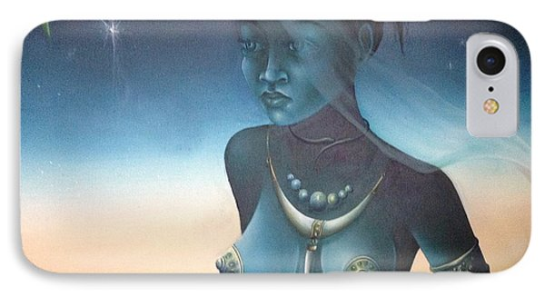 IPhone Case featuring the painting Blue Haitian Woman by Jean Pierre
