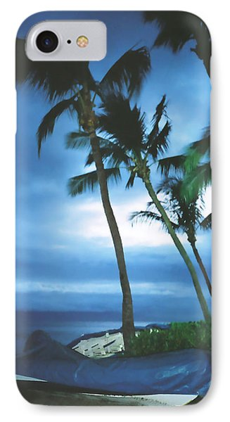IPhone Case featuring the photograph Blue Hawaii With Planets At Night by Connie Fox