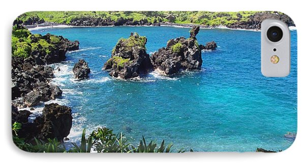Blue Hawaiian Lagoon Near Blacksand Beach On Maui IPhone Case by Amy McDaniel