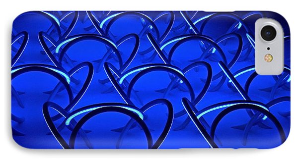 IPhone Case featuring the photograph Blue Haze Circles by Joan Reese