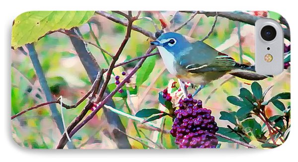 Blue-headed Vireo IPhone Case by Peg Urban