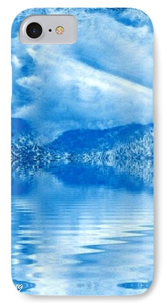 Blue Healing Phone Case by Ray Tapajna