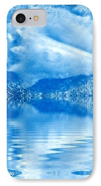 Blue Healing IPhone Case by Ray Tapajna