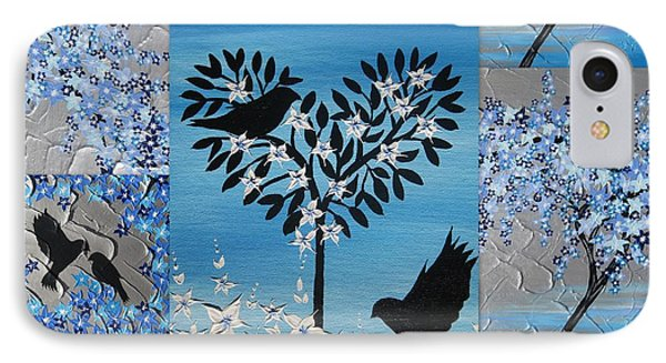 Blue Heart Tree IPhone Case by Cathy Jacobs