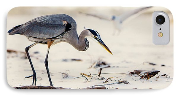 Blue Heron At The Beach Phone Case by Joan McCool
