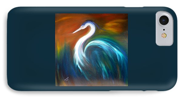 IPhone Case featuring the painting Blue Heron by Dorothy Maier