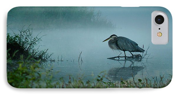 Blue Heron Morning IPhone Case by Deborah Smith