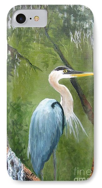 Blue Heron Nesting IPhone Case