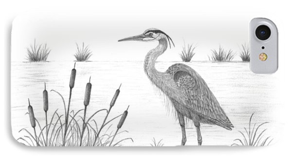 Blue Heron IPhone Case by Patricia Hiltz