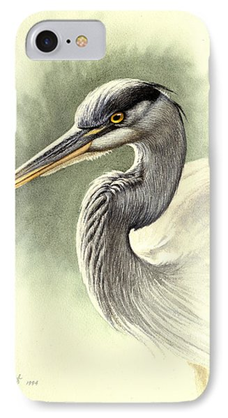 Heron iPhone 7 Case - Blue Heron   by Paul Krapf
