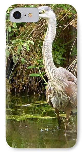 Blue Heron Reflection Phone Case by Susan Garren