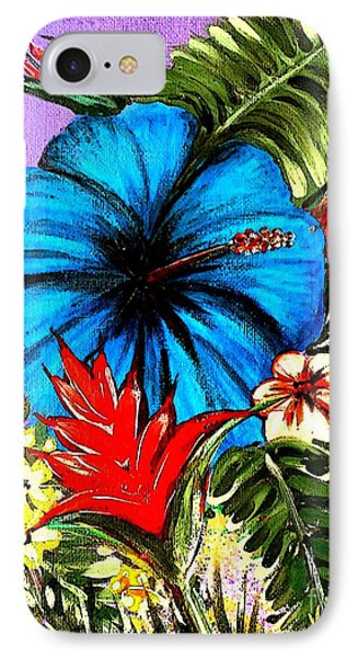 Blue Hibiscus Phone Case by Valarie Pacheco