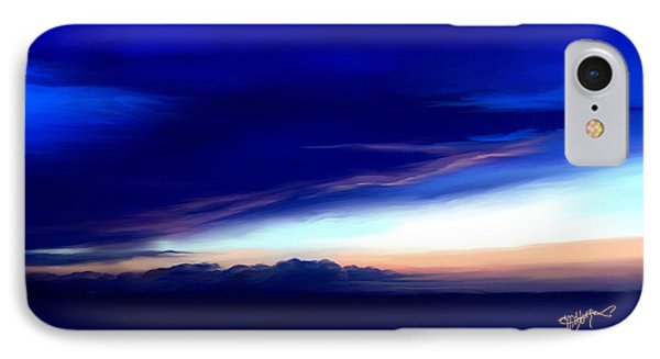 Blue Horizon Dawn Over Sea IPhone Case by Anthony Fishburne