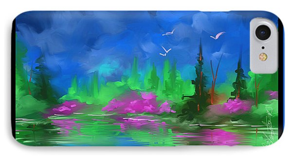 IPhone Case featuring the painting Blue Horizon by Steven Lebron Langston