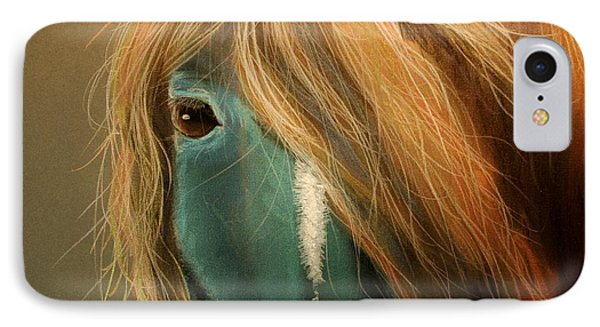 Blue Horse Phone Case by Heather Gessell